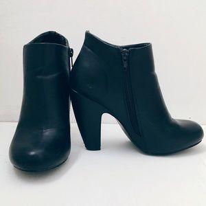 ModCloth Black Heeled Ankle Boots